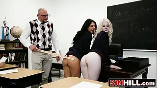 Naughty School Woman Likes Rough Sex & Big Sensitive - Gina Valentina, Lily Rader