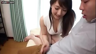 Busty Japanese mummy having astounding sex with her son's teacher