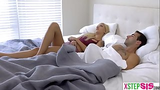Angry stepsis gets in bed with me and we bang
