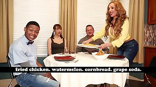 BANGBROS - MILF Richelle Ryan Adopts Lil D's Thick Black Cock, Invites Him Over For Dinner