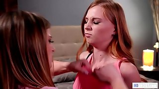 Catfight then lesbian hook-up - Kristen Scott and Ava Parker