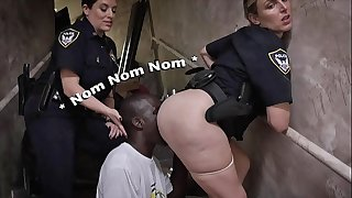 BLACK PATROL - Illegal Street Racers Get Busted By White MILF Cops