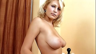 Shy Busty Ash-blonde Teenage first time porno audition. Sexy stripping & masturbation. Pussy fingering, large tits!