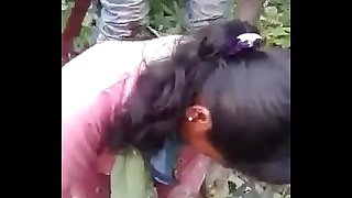indian gf fucked by bf and his friend in jungle