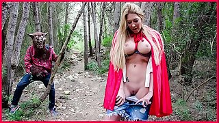 BANGBROS - Chesty Blonde Lexi Lowe Runs Into The Thick Bad Wolf In The Woods!